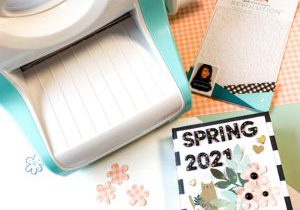 Make a Spring Mini Album with the Revolution Cutting & Embossing Machine now available at JOANN Stores
