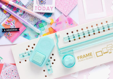 Polaroid frames with the Frame Punch Board